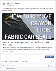 Curating FB Content3