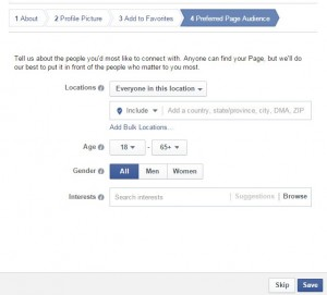 Facebook Preferred Page Audience Selection