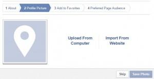 Facebook Profile Picture Upload